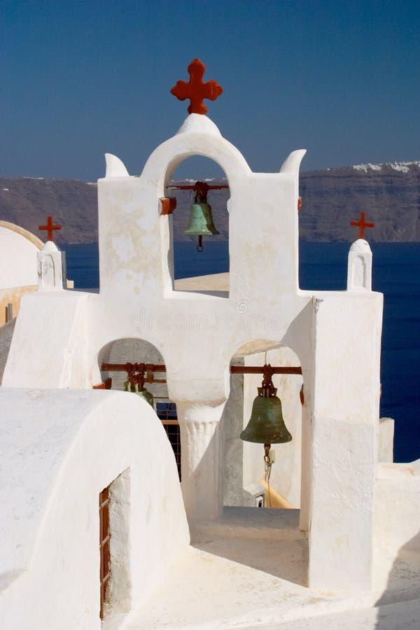 kościół Oia Greece santorini obraz stock