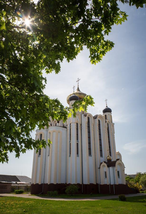 Kościół Panteleimon uzdrowiciel w mieście Lida, Białoruś obraz royalty free