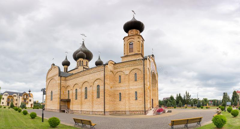 Kościół prawosławny Dormition Błogosławionej Marii Dziewiczej w Bielsku Podlaski fotografia royalty free