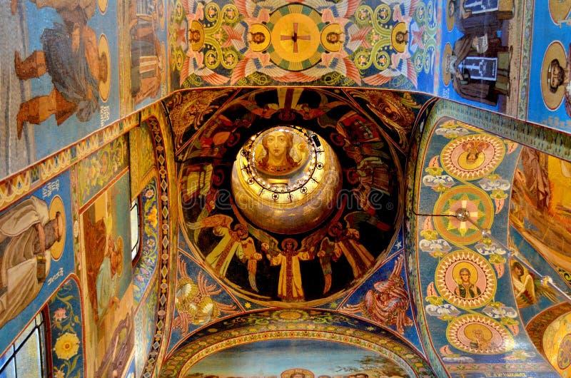 kościół prawosławny w rosji świętej petersburskiej, 22 sierpnia 2015 zdjęcie stock