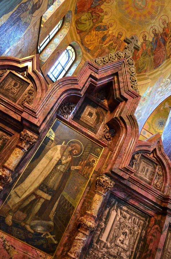 kościół prawosławny w rosji świętej petersburskiej, 22 sierpnia 2015 obraz stock