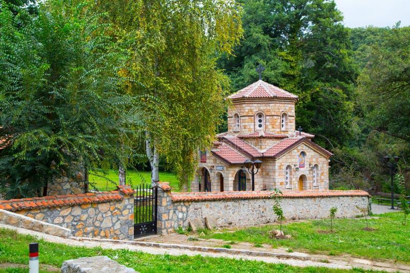 Kościół przy świętego Naum monasterem w Macedonia obraz stock