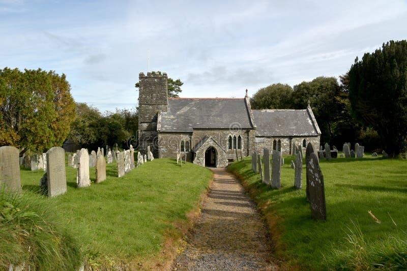 Kościół przy Martinhoe w Exmoor, Północny Devon zdjęcie stock