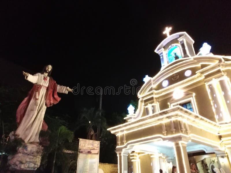 Kościół przy nocą 2 zdjęcie royalty free