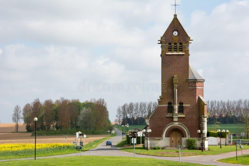 Kościół przy Thiepval Francja zdjęcie royalty free