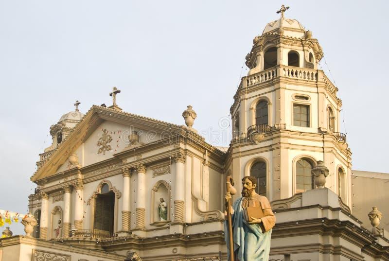 kościół quiapo fotografia royalty free
