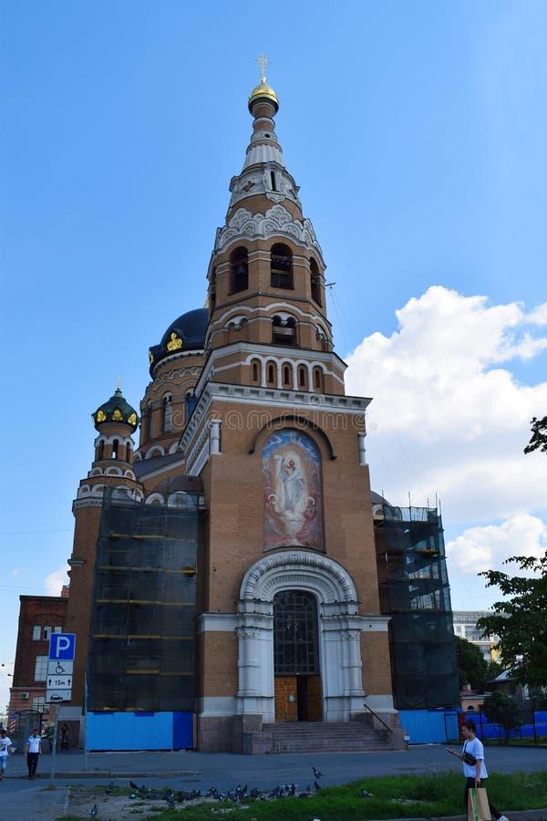 Kościół rezurekcja Chrystus przy Warszawską stacją kolejową zdjęcie stock