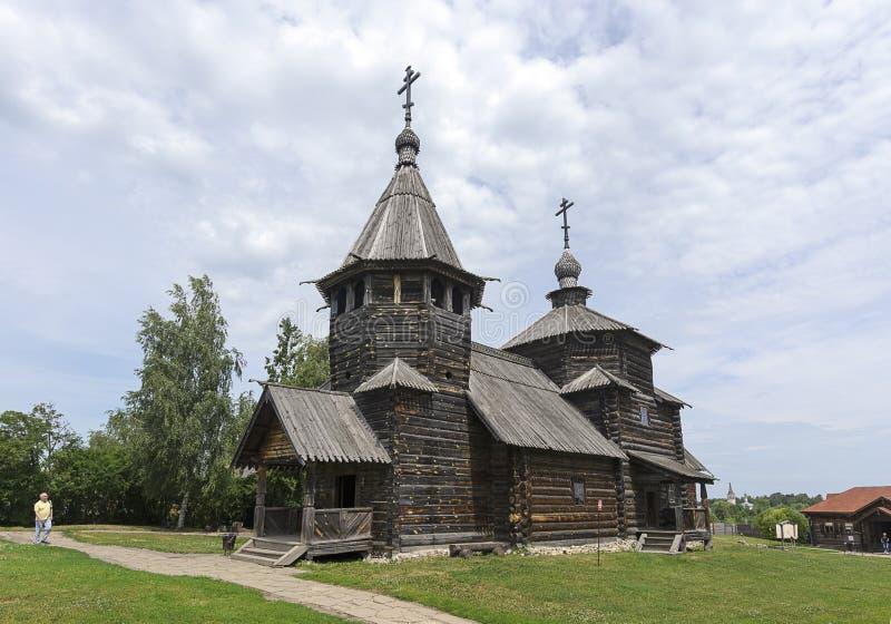 Kościół rezurekcja muzeum Drewniana architektura obraz stock
