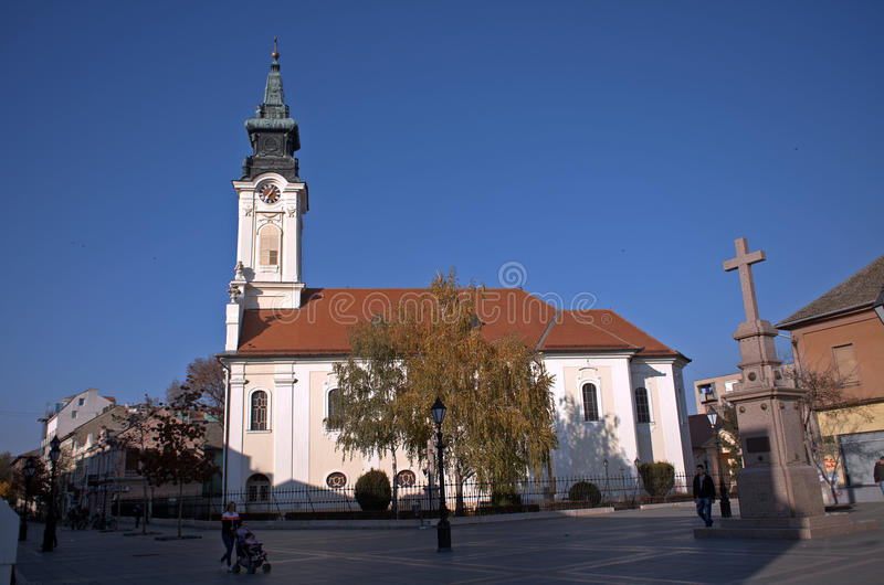 Kościół Rzymsko-Katolicki, Sombor, Serbia obraz royalty free