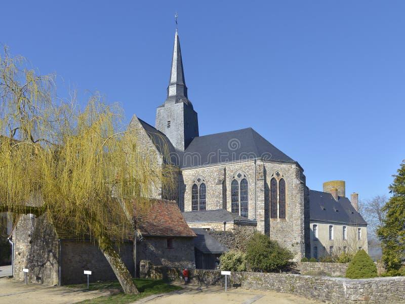 Kościół Sainte-Suzanne we Francji zdjęcia stock