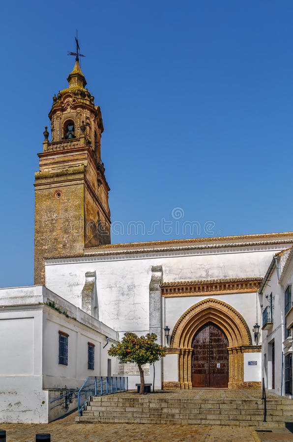 Kościół San Bartolome, Carmona, Hiszpania zdjęcie royalty free