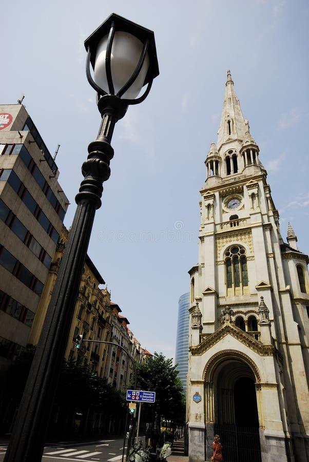 Kościół San Juan w San Jose kwadracie, Bilbao, Hiszpania zdjęcie stock