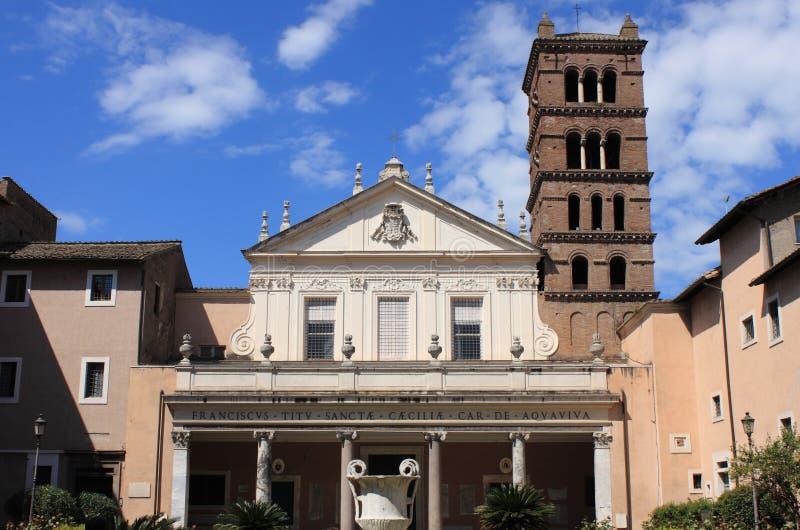 Kościół Santa Cecilia w Trastevere obrazy royalty free