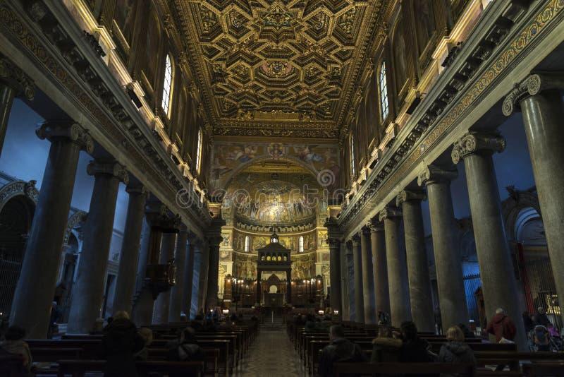 Kościół Santa Cecilia w Trastevere, Rzym, Włochy zdjęcie stock