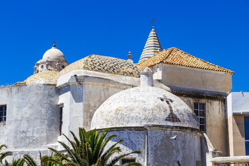 Kościół Santa Cruz w Cadiz, Andalusia, Hiszpania fotografia royalty free