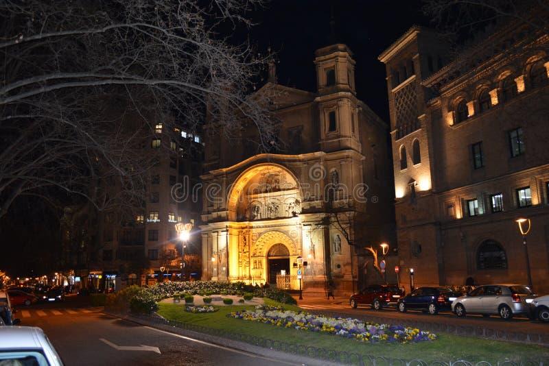 Kościół Santa Engracia, Zaragoza, Hiszpania zdjęcia stock