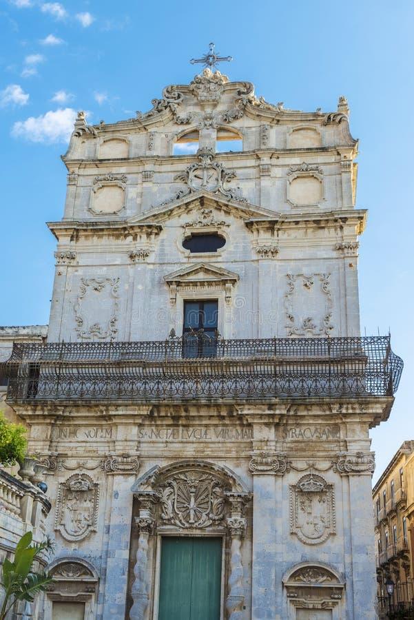 Kościół Santa Lucia Alla Badia w Siracusa w Sicily, Włochy fotografia royalty free