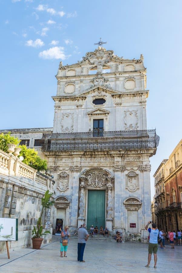 Kościół Santa Lucia Alla Badia w Siracusa w Sicily, Włochy zdjęcia stock
