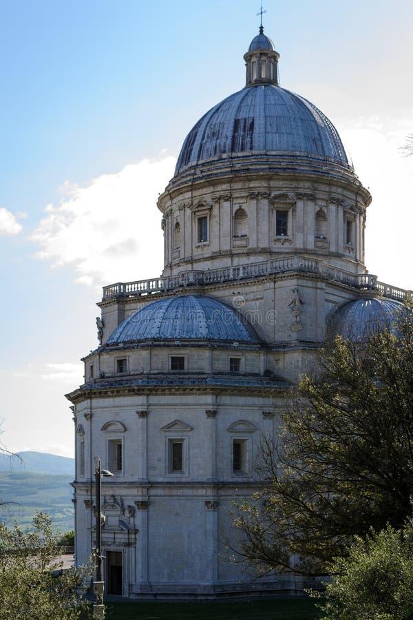 Ko?ci?? Santa Maria della Consolazione w Todi W?ochy obraz stock
