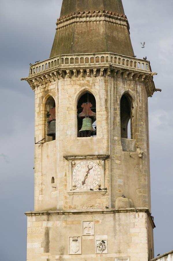 Kościół Santa Maria robi Olival rozważał jako macierzysty kościół rozkaz rycerza templariusz w Portugalia i ono jest obrazy stock