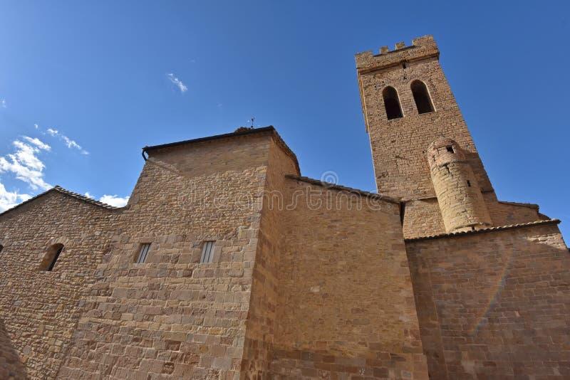 Kościół Santiago Apostol w Sanguesa obraz stock