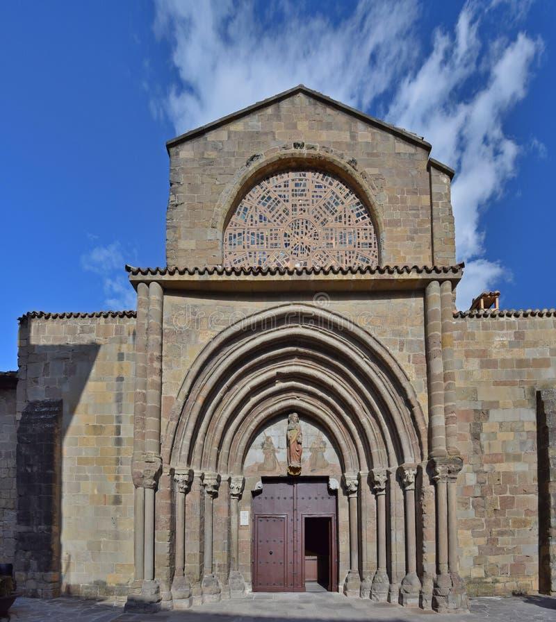 Kościół Santiago Apostol w Sanguesa zdjęcia stock