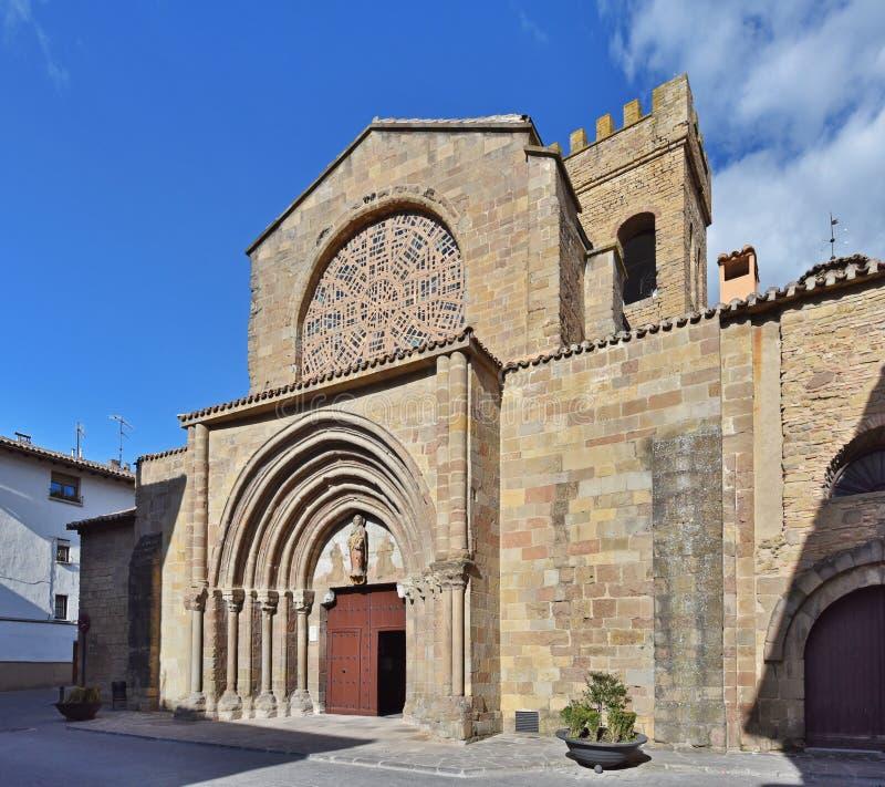 Kościół Santiago Apostol w Sanguesa obraz royalty free