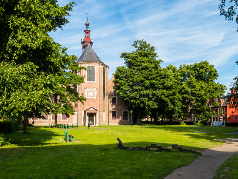 Kościół Sint-Elisabeth Begijnhof, Ghent, Belgia obrazy royalty free
