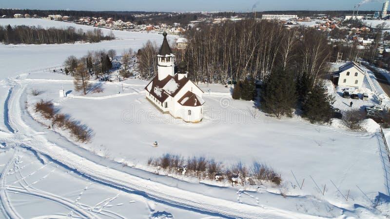 Kościół Smolensk ikona matka bóg w wiosce Podolino, Moskwa region, Rosja zdjęcie royalty free
