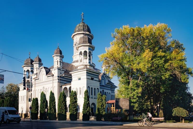Kościół spadek Święty duch, Radauti, Rumunia fotografia royalty free