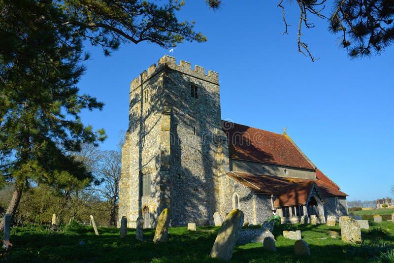 Kościół St Andrews, Beddingham, Sussex, UK obrazy royalty free