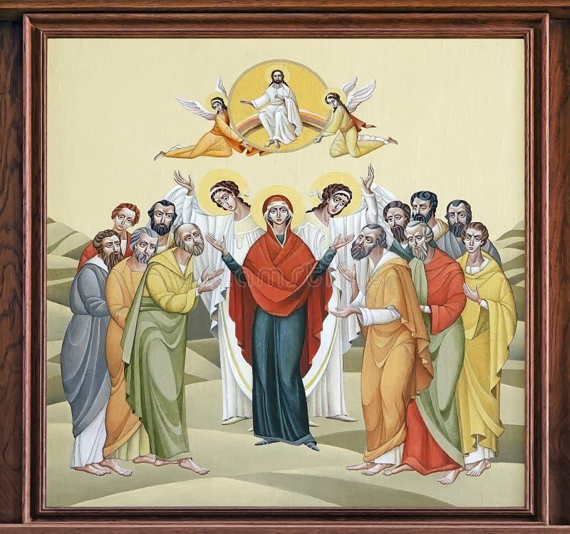 Kościół St Anne - uczta wniebowstąpienie royalty ilustracja