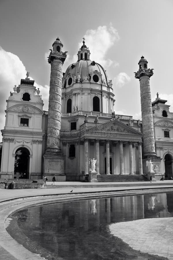 Kościół St Charles Borromeo w Wiedeń, Austria (Wiener Karlskirche) fotografia royalty free