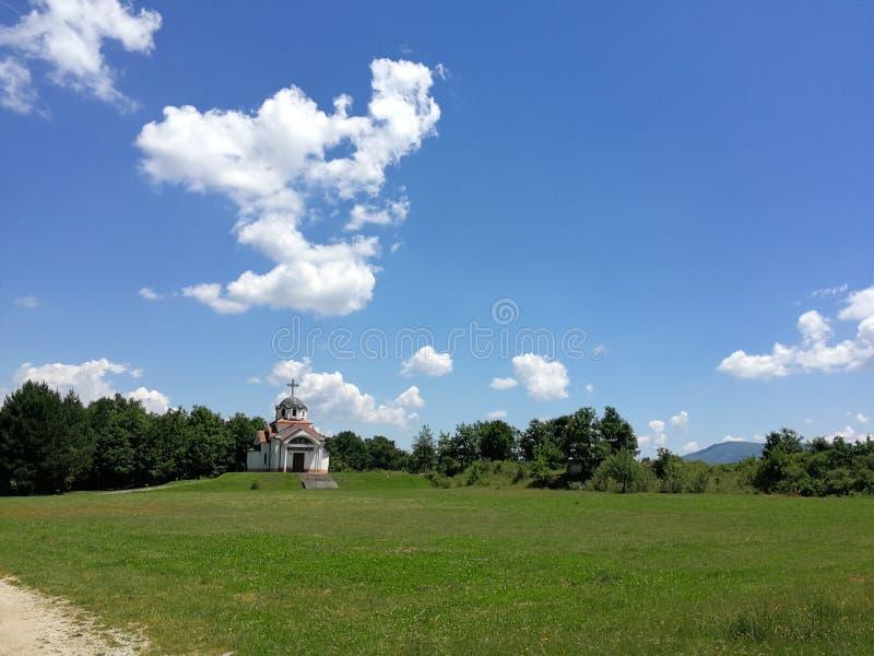 Kościół St Constantine i Elena, Vratnica, Macedonia obraz royalty free