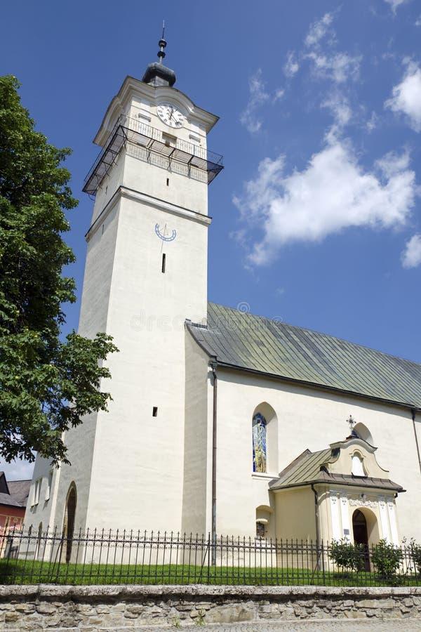 Kościół st George w Spisska Sobota zdjęcie royalty free