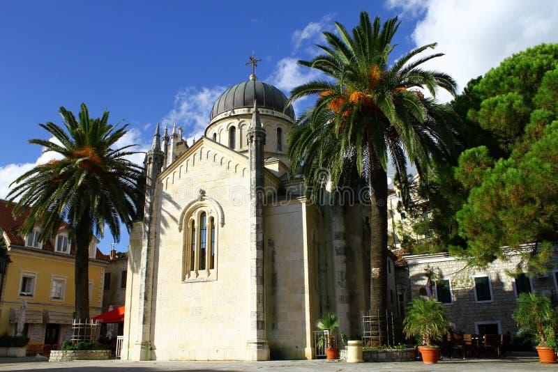 Kościół St Jerome w Herceg Novi obrazy stock
