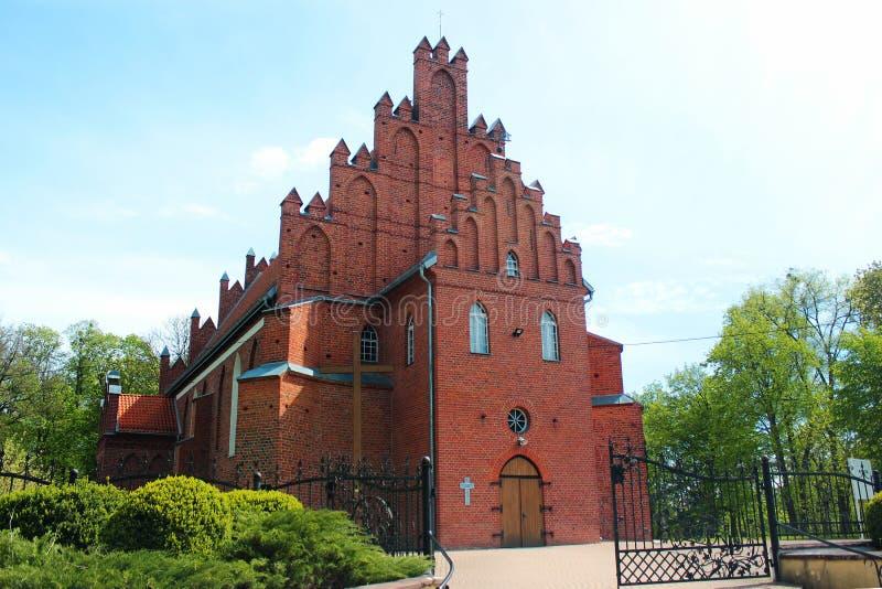 Kościół St John baptysta w Bartoszyce, Warmian-Masurian Voivodeship, Polska obraz stock