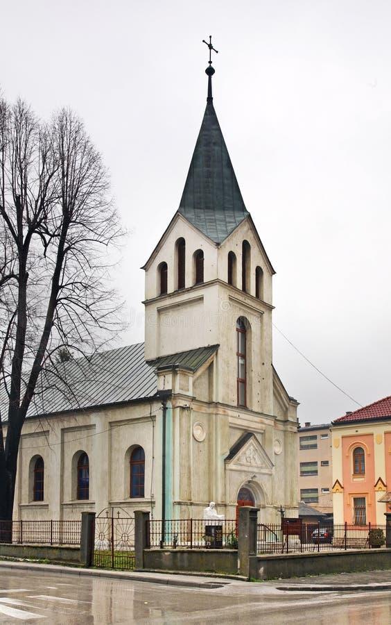Kościół St John baptysta w Travnik zgadzający się terenu teren kartografuje ważny ścieżki ulga cieniącego stan otaczający terytor obraz royalty free