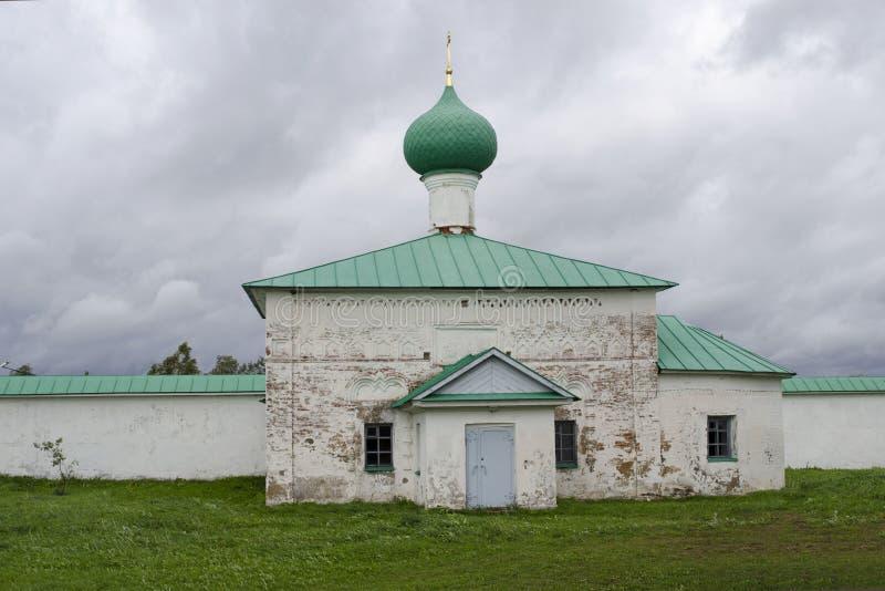 Kościół St John Damaszek Aleksander monasteru Leningrad region Rosja zdjęcie royalty free