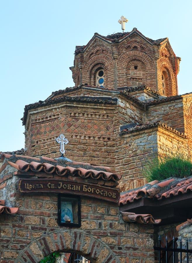 Kościół St John Kaneo Ohrid, Macedonia zdjęcie stock