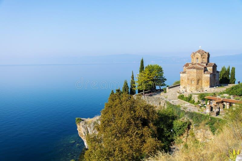 Kościół St John przy Kaneo, Ohrid fotografia stock