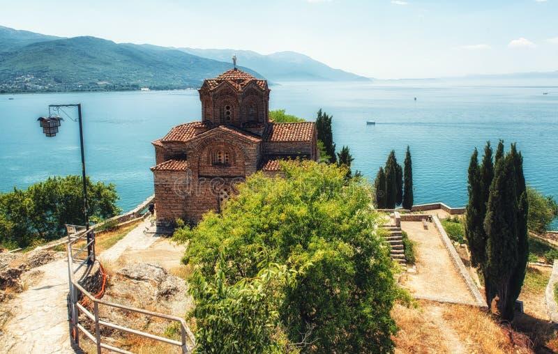 Kościół St John przy Kaneo, Ohrid, Macedonia zdjęcia stock