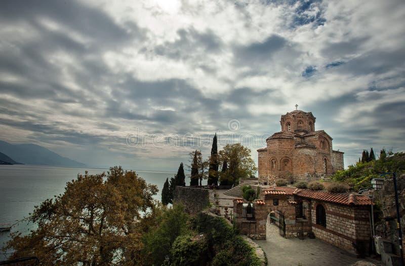 Kościół St John teolog przy Kaneo -, Ohrid zdjęcie stock