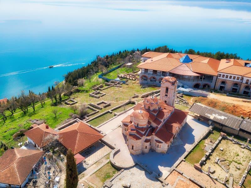 Kościół St John teolog przy Kaneo -, Ohrid, Macedonia fotografia royalty free