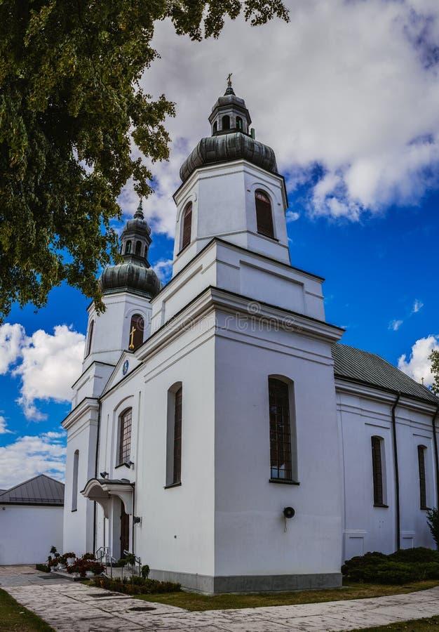 Kościół St Maryjna dziewica w Bielsko Podlaska obrazy royalty free