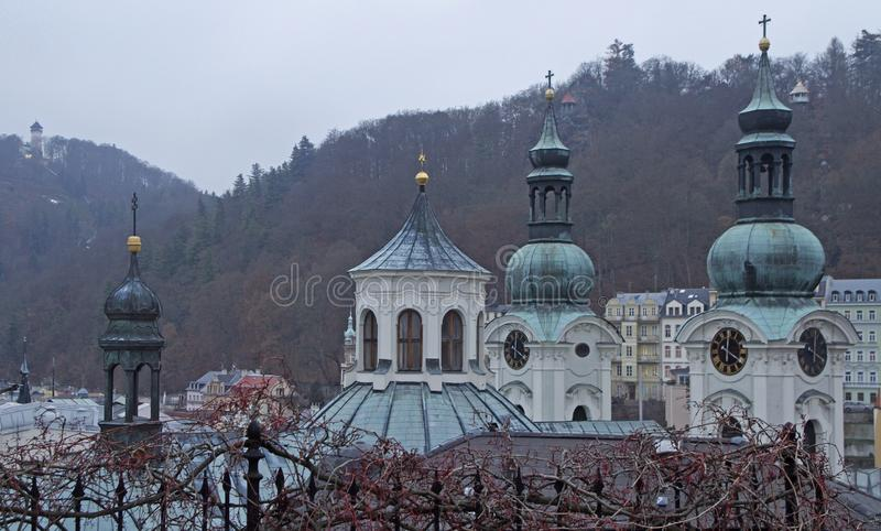 Kościół St Maryjny Magdalene w grodzkim Karlovy Zmienia obrazy royalty free