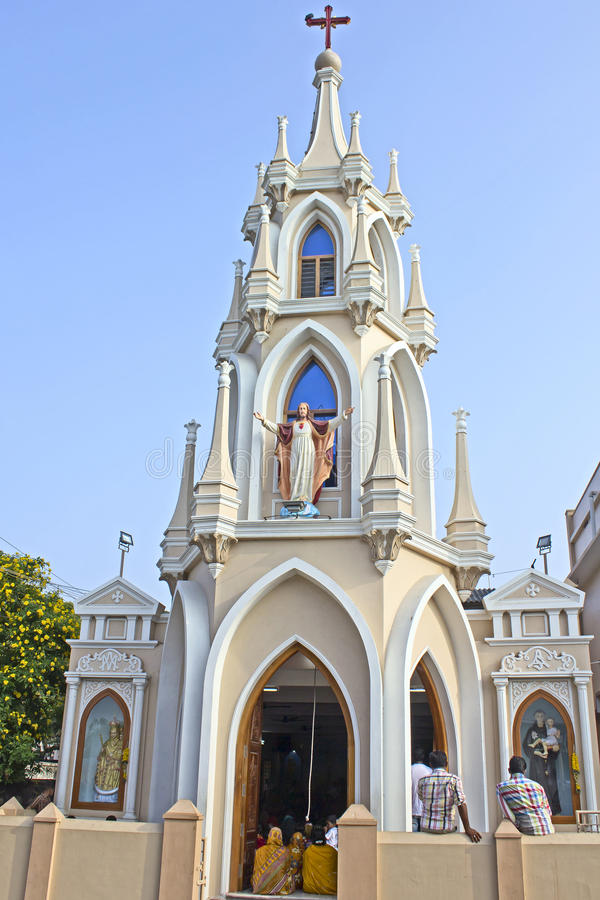Download Kościół St Michael W Kanyakumari Zdjęcie Stock Editorial - Obraz złożonej z kościół, rzymski: 41955083