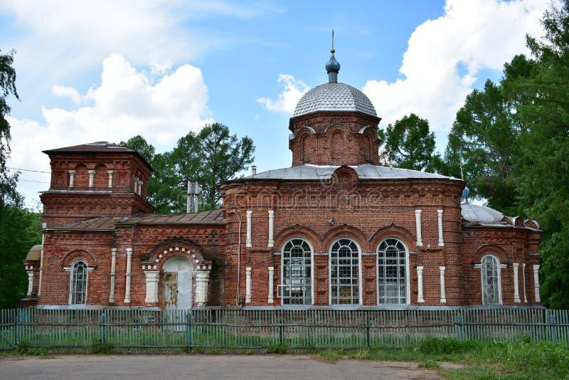Ko?ci?? St Nicholas Z?oty ringowy Kostroma region zdjęcie royalty free
