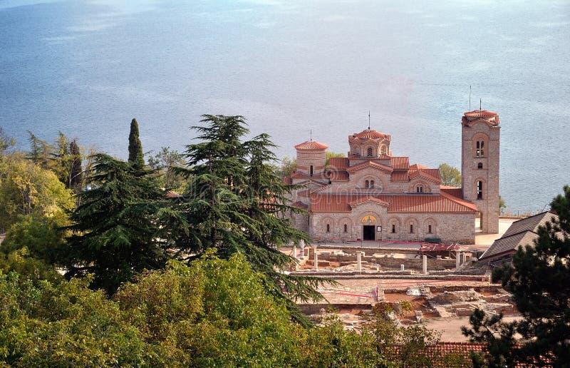 Kościół St. Panteleimon, Ohrid, Macedonia zdjęcie royalty free