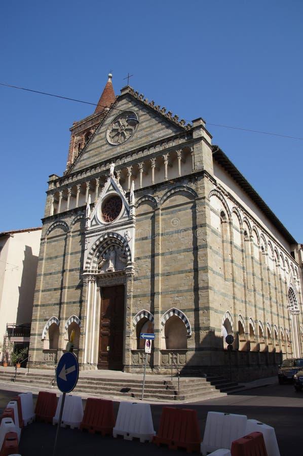 Kościół St Paul, Pistoia, Włochy zdjęcia stock